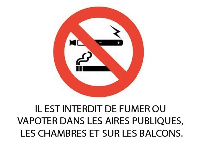 Interdiction fumer et vapoter